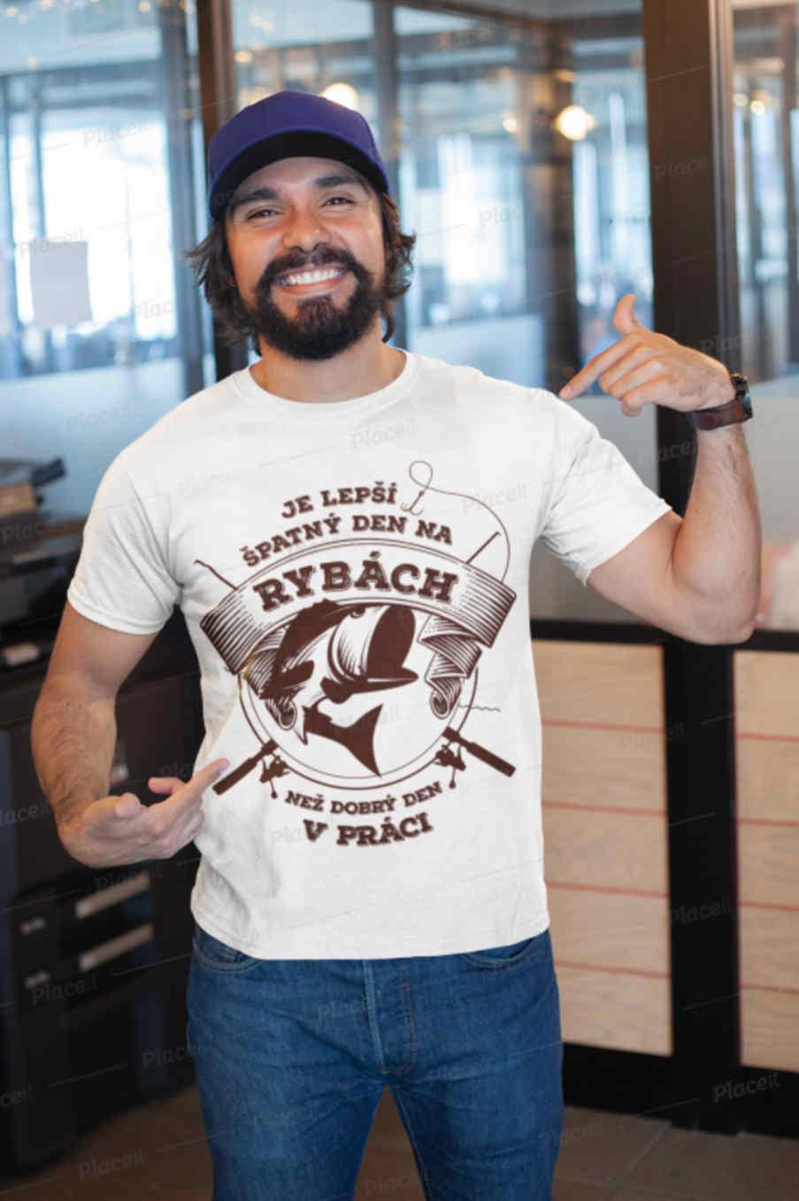 Rybářská trička s vtipným motivem