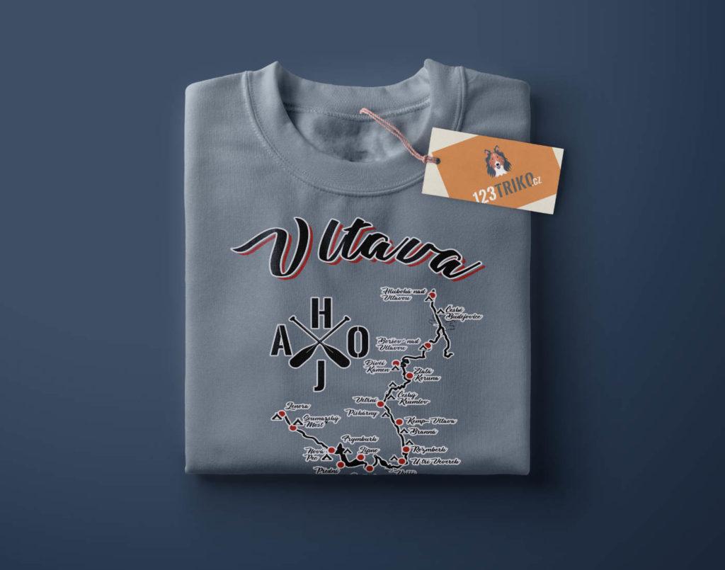 Tričko na vodu, vodácké tričko s potiskem Vltava