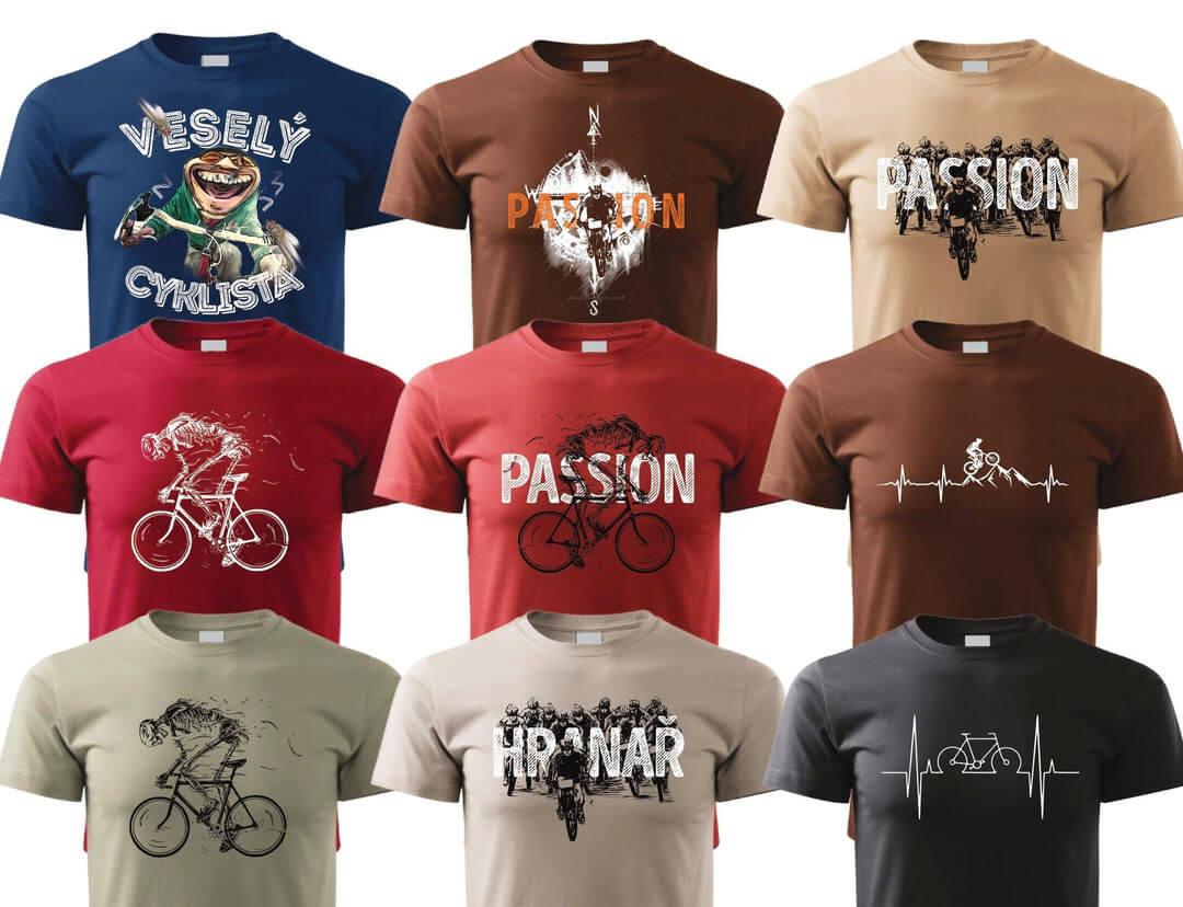 Trička pro cyklisty a bikery